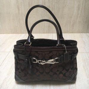 Authentic Coach leather expresso satchel