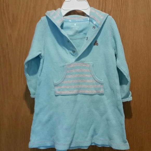 GAP Other - Baby Gap Waffle Knit Hoodie Dress 6-12M