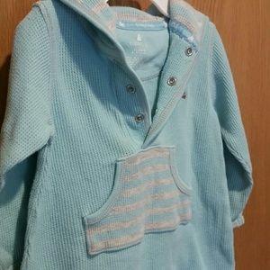 GAP Dresses - Baby Gap Waffle Knit Hoodie Dress 6-12M