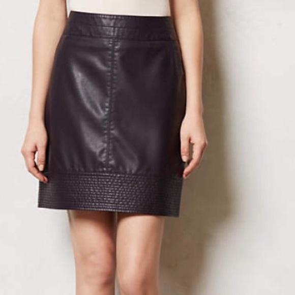 478b91e664 Anthropologie Skirts | Vanessa Virginia Vegan Leather Skirt | Poshmark