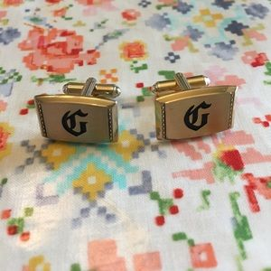 """Hickok Other - [Hickok] Vintage """"G"""" Gold Godfather Cuff Links"""