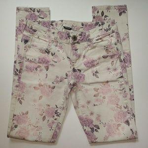 AEO Floral Print Skinny Jeans