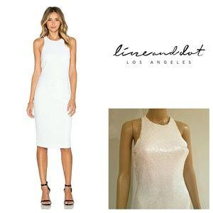 Line & Dot Dresses & Skirts - NWT LINE & DOT Sequin White Royale REVOLVE Dress