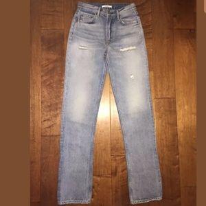 GRLFRND Denim - GRLFRND Helena Straight Leg Jean in All Night Long
