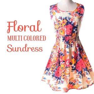 Dresses & Skirts - ☀️Floral multi colored sundress