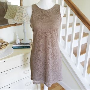 Eyeshadow Dresses & Skirts - Sale! Eyeshadow Taupe Lace Dress