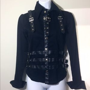 *FINAL PRICE* Black Leather Detail Jacket Size S