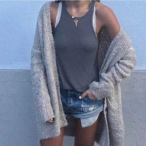 Free People Gray Tank top Small