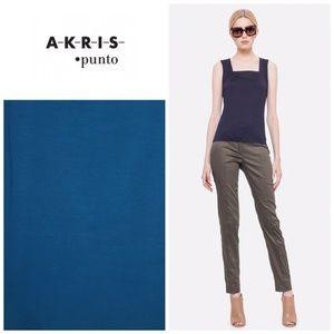 Akris Punto Tops - Akris Punto square neck jersey tank - Turquoise