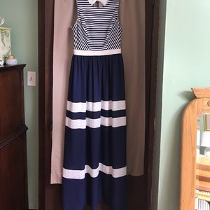 ivy & blue Dresses & Skirts - Striped maxi dress