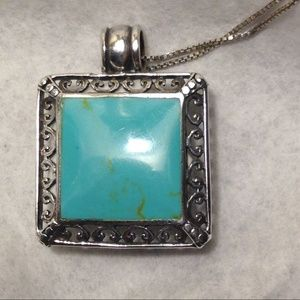 Jewelry - Vintage Turquoise Pendant (only)