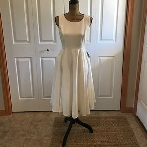 lulus Dresses & Skirts - Lulus tea length white/ivory dress