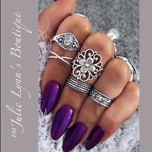 Jewelry - 🎉2X 🅷🅿  5 Piece Boho Ring Set
