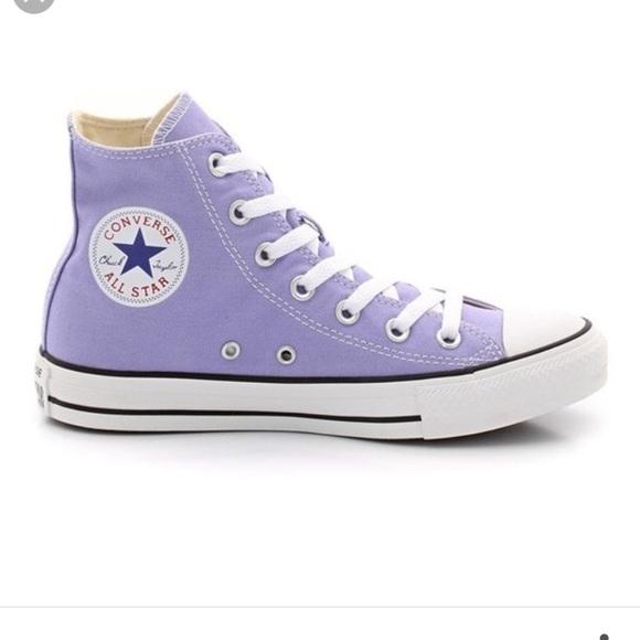 a0b16a26663a Lavender Converse High Top Sneakers