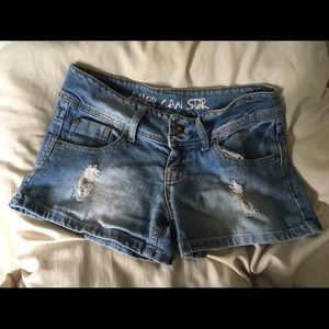 Ripped jean shorts size 1