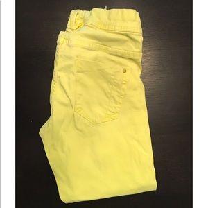 Pull&Bear Denim - Pull & bear Neon yellow skinny jeans.