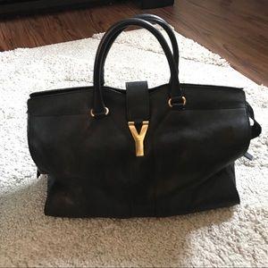 Saint Laurent Handbags - Yves Saint Laurent Chyc Cabas Tote Large Black