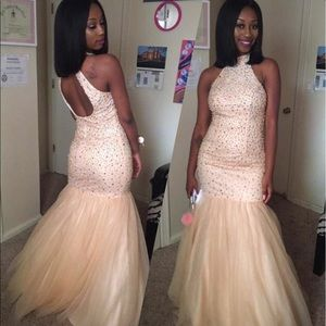 Anny Lee Dresses & Skirts - 2017 Rhinestone Mermaid Prom Dress