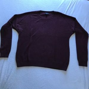 GAP Sweaters - GAP burgundy sweater with holes.
