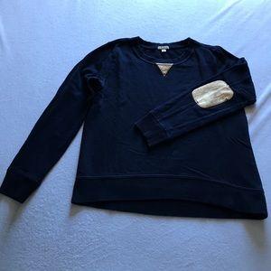 GAP Tops - GAP gold elbow patches blue sweatshirt.