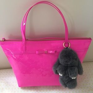 Authentic Kate Spade Hot Pink Large Tote Bag