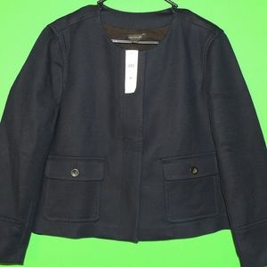 NWT Ann Taylor Womens 14 Navy Button Jacket