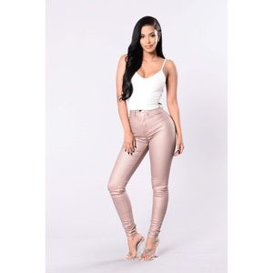 It's So You Copper Jeans High Waisted