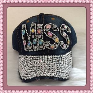 Passion of Essense Accessories - Distressed Bling MISS Cap