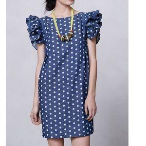 Karen Walker Dresses & Skirts - Karen Walker Chambray polka dot dress