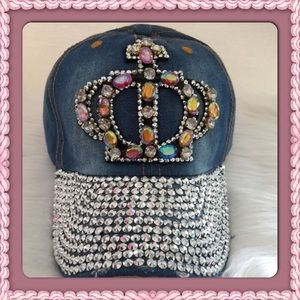 Passion of Essense Accessories - Distressed Bling Queen Cap