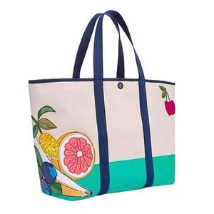 Tory Burch Handbags - ✨NWT✨ Tory Burch Penn Fruit Large Beach Tote Bag