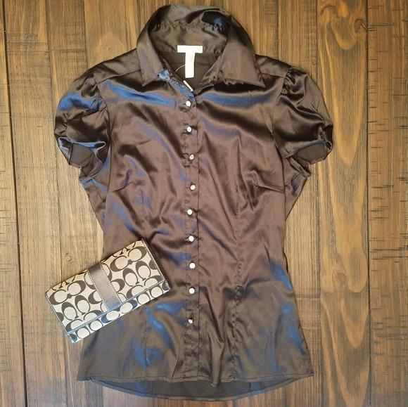 Black silk button down dress shirt s from krista 39 s closet for Black silk button down shirt