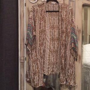 Arnhem Tops - Arnhem Gypsy Kimono Top Bohemian Luxe M