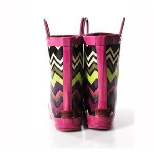 Missoni Shoes - MISSONI GIRLS MULTI COLOR CHEVRON RUBBER RAINBOOTS