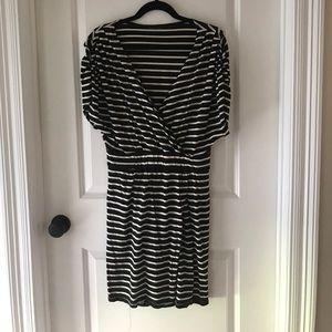 Geren Ford Dresses & Skirts - Geren Ford striped jersey wrap dress