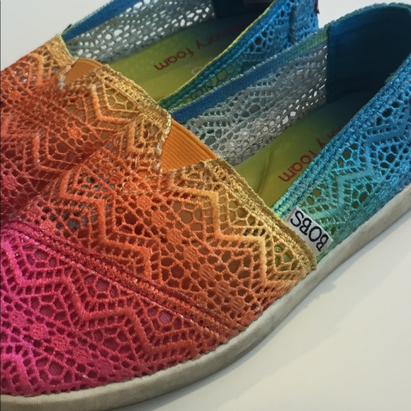 Women Rainbow Slip On Shoes Bobs   Poshmark