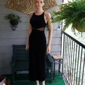 Betsy & Adam Dresses & Skirts - BETSY & ADAM Black Velvet Maxi Dress sz Small