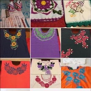 Tops - handmade shirts and napkins