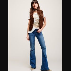 Free people flare denim.