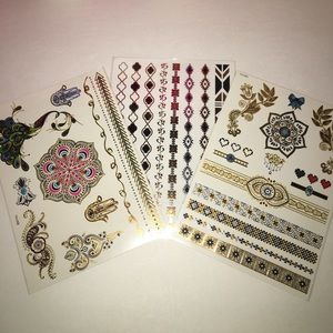 Flash Tattoo Accessories - New! henna tattoo• waterproof stickers • Metallica