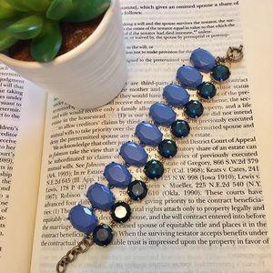 J. Crew Jewelry - J. Crew • Side-by-Side Blue Stone Bracelet