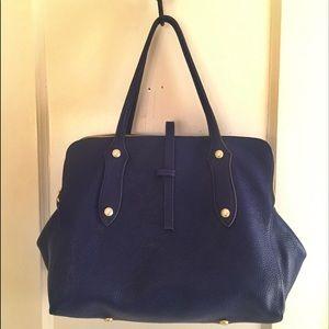 Annabel Ingall Handbags - Annabel Ingall Coco Satchel Navy