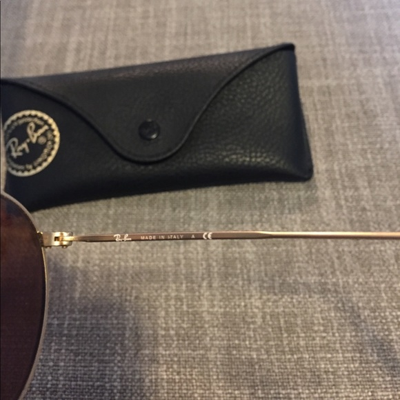 16aed79707f Ray Ban Round Metal Sunglasses Rose Gold