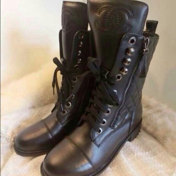d3b8d70cc3d CHANEL Shoes - Chanel Quilted Leather Combat Boot