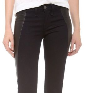 Rag and Bone black leather side panel pant!