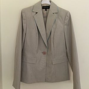 Pants - Beige pin striped pant suit - like new condition