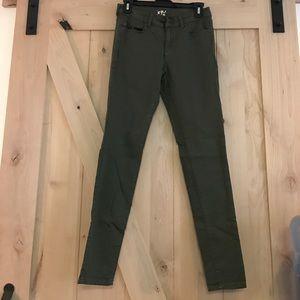 Garage Pants - GARAGE high waist olive green jegging