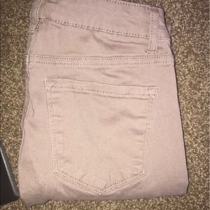 Refuge high waisted beige skinny jeans
