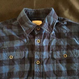 Jachs Other - Jachs L Tall Heavy Weight  Shirt Blue Plaid Mens
