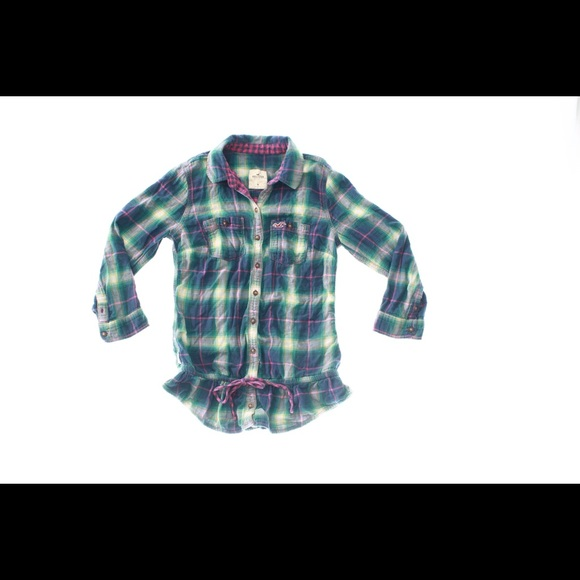 50 off hollister tops hollister womens plaid button for Womens patterned button down shirts